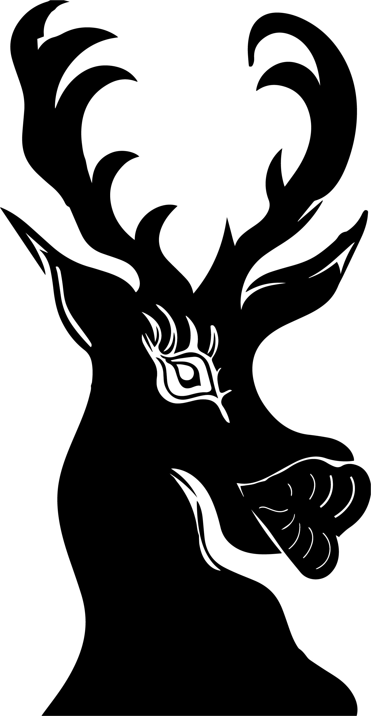 sheer black reindeer icon